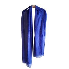 Yves Saint Laurent-Echarpe vintage-Bleu clair