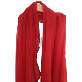 Yves Saint Laurent-Echarpe vintage-Rouge
