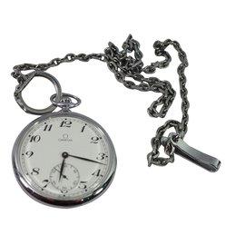 Omega-Mechanische Uhren-Silber