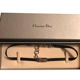 Christian Dior-Tour de cou Dior-Noir,Argenté
