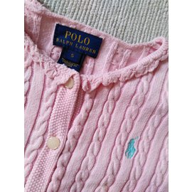 Polo Ralph Lauren-Gilet logo-Rose