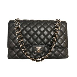 Chanel-Maxi Timeless double flap-Black