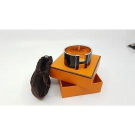 Hermès-Bracelet Clic H-Noir,Argenté