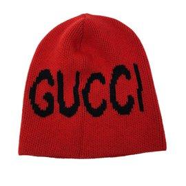 Gucci-Bonnet rouge-Noir,Rouge