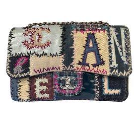Chanel-Jumbo classic flap patchwork-Multiple colors