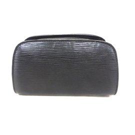 Louis Vuitton-Trousse dauphine 17 cuir epi noir-Noir