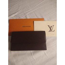 Louis Vuitton-Portefeuille épi marron-Marron