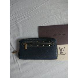 Louis Vuitton-Portefeuille Louis Vuitton cuir suhali-Noir
