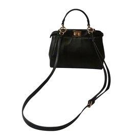 75c7c21716de Fendi-Mini Peekaboo Satchel Bag-Black ...
