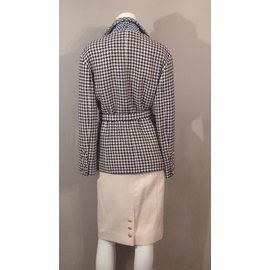 Chanel-Tailleur jupe 3 pièces-Écru