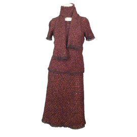 Chanel-3-Piece Dress-Red
