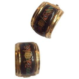 Hermès-Boucles d'oreilles-Multicolore