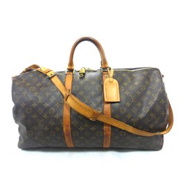 Louis Vuitton-Keepall 55 bandouliere monogram-Marron