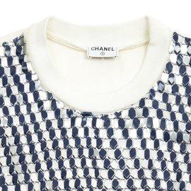 Chanel-2 tones sequins fr38-Blanc cassé