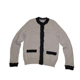 Chanel-Cardigan-Blanc cassé