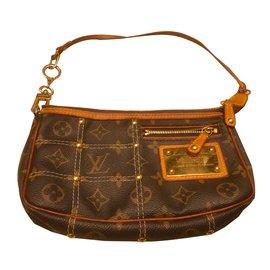 Louis Vuitton-Pochette$-Beige,Marron clair