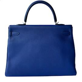 Hermès-Kelly retournée 35-Bleu