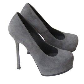 Yves Saint Laurent-Heels-Grey