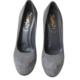 Yves Saint Laurent-Talons-Gris