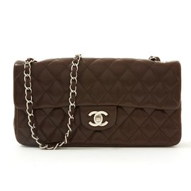Chanel-TIMELESS 25 CHOCO MINCE-Marron foncé