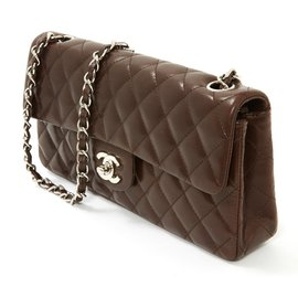 Chanel-TIMELESS 25 CHOCO THIN-Dark brown