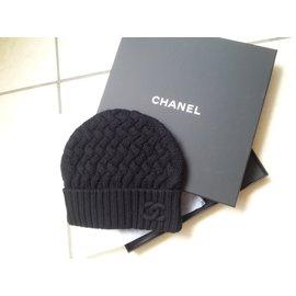 Chanel-Bonnet Cachemire-Noir