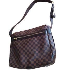 Louis Vuitton-Large Damier Messenger Bag.-Brown