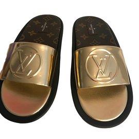 Louis Vuitton-Bain de soleil mulet-Cuivre