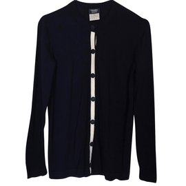 Chanel-Cardigan-Bleu Marine