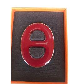 Hermès-Anneau de Carré Hermès-Rouge