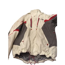 The North Face-The North face ski jacket-Red,Grey,Eggshell
