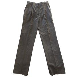 Hermès-Pantalons-Gris