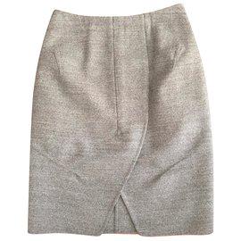 Yves Saint Laurent-SAINT LAURENT skirt-Grey