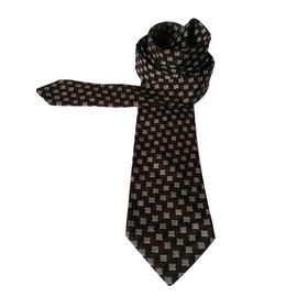 Christian Dior-Cravates-Marron,Beige