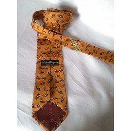 Salvatore Ferragamo-Cravate-Autre,Orange