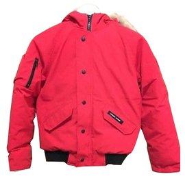 Canada Goose-Manteaux de garçon-Rouge