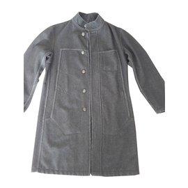 b7e0fdb62e21 Marithé et François Girbaud-Men Coats Outerwear-Dark brown ...