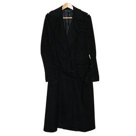 Gucci-Manteau en laine et cachemire-Noir