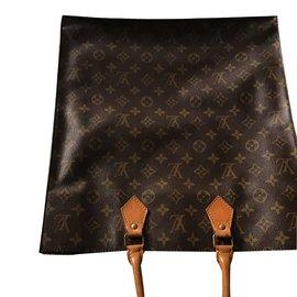 Louis Vuitton-cabas plat-Marron foncé
