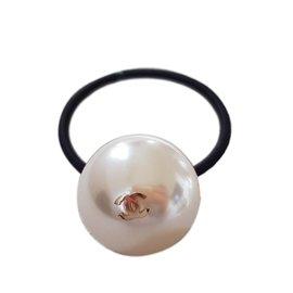 Chanel-Bijoux de tête-Blanc cassé