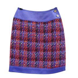 Chanel-Jupes-Multicolore,Violet