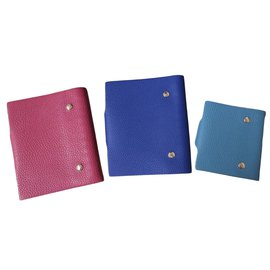 Hermès-Lot de 3 couvertures de cahier ulysse-Bleu