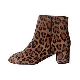 Mellow Yellow-Bottines-Imprimé léopard
