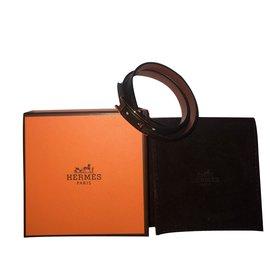 Hermès-Double Tour Bracelet réversible noir-Noir