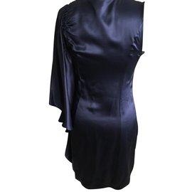 Les Petites-Silk dress-Blue