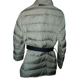 Prada-Quilted down jacket-Beige