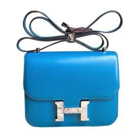 32c3eec2bf72 Hermès-Constance 18 Blue Izmir Tadelakt PHW-Blue ...