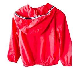Timberland-Manteaux de garçon-Rouge