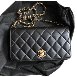 Chanel-Vintage Wallet on Chain-Black