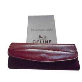 Céline-Key ring-Dark red